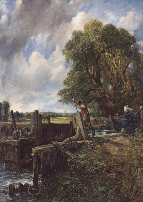 Constable, John: The Lock. Fine Art Print/Poster. Sizes: A4/A3/A2/A1 (00905)